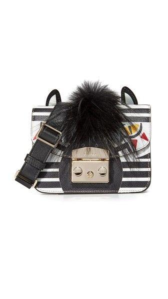 38d750ea9cc8 Миниатюрная сумка через плечо Metropolis Jungle   Zebra face, Furla ...