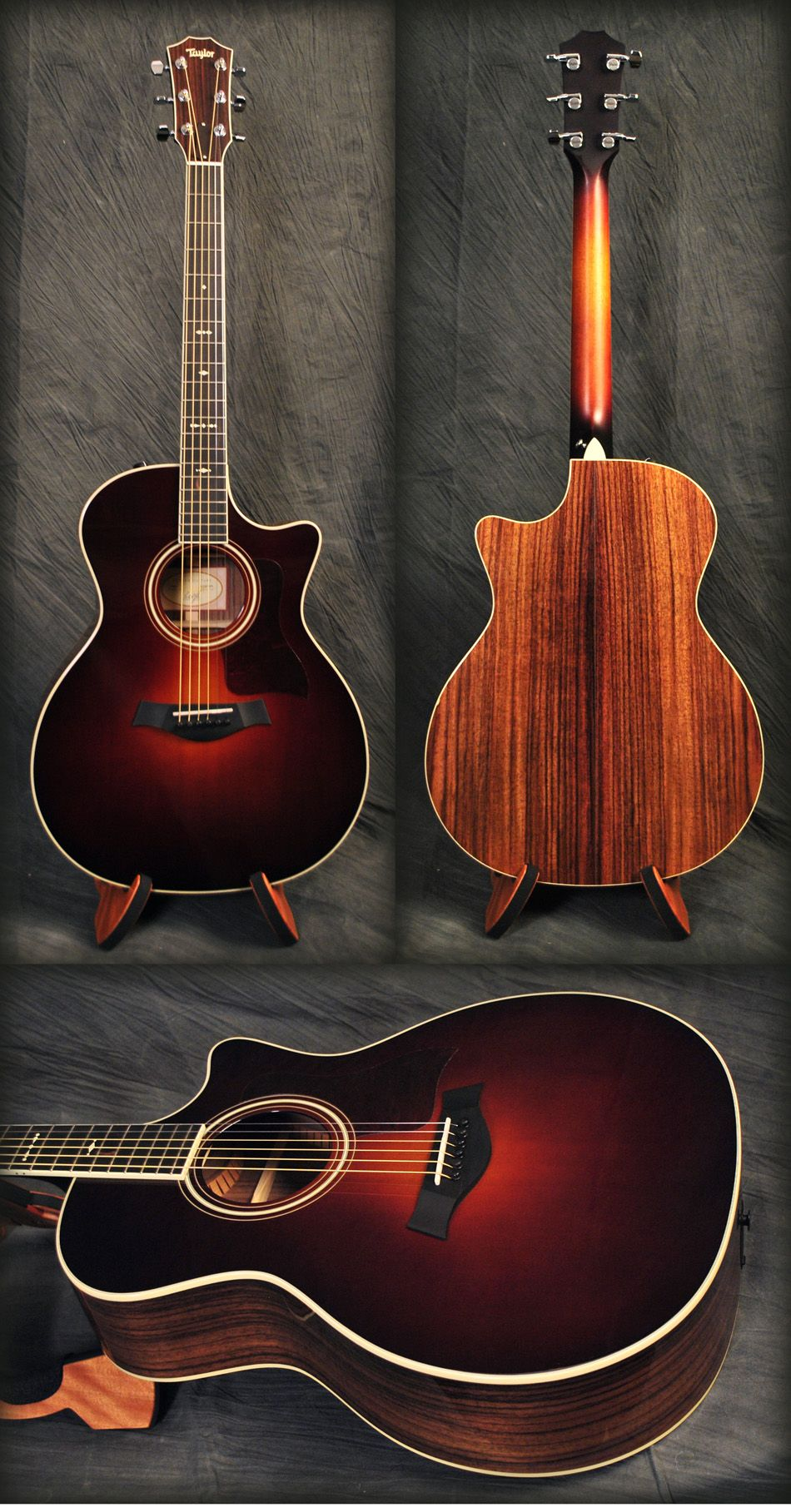 taylor 714ce acoustic guitar in vintage sunburst sweet get 10 off this guitar or anything. Black Bedroom Furniture Sets. Home Design Ideas