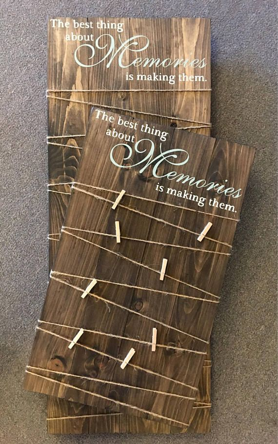 Making Memories Wooden Sign / Picture Board with clips / Photo Board with clips / Wood Picture Frame /Wood Photo Sign /Picture Display Board
