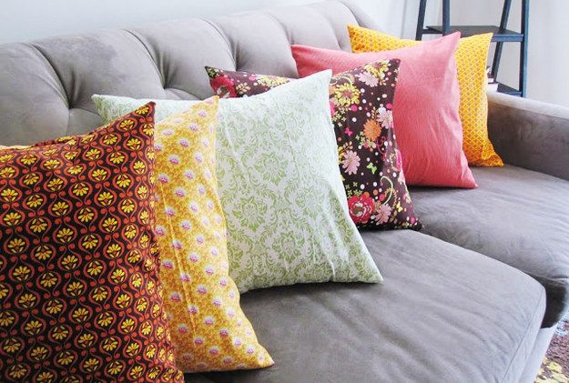 Pillow Covers | 19 Insanely Easy DIY Projects That Are Perfect For Beginners
