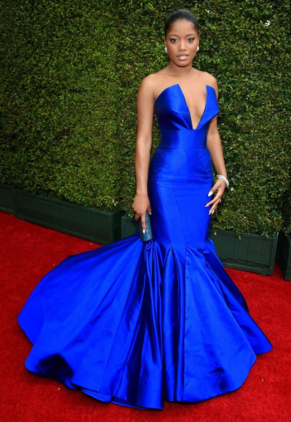Emmy fashion 2014 best red carpet dresses blogher - Keke Palmer 2014 Primetime Emmy Awards In Los Angeles Keke Palmertrumpet Gownred