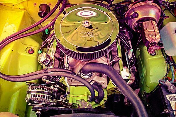 340 cu V8 of 1973 Plymouth Duster 340 833A Trans Engine ...