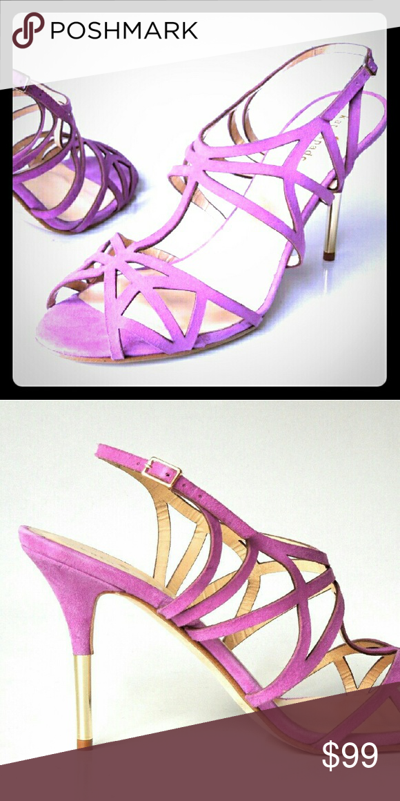"""Kate Spade New York Purple Suede Sandals 8.5 Beautiful Kate Spade New York sandals in soft suede leather, wirh padded leather insoles, adjustable ankle strap with buckle closure, 4"""" heels, Made in Italy, Retail $325, new without box, Size 8.5!   Bundle & Save! :) kate spade Shoes Heels"""