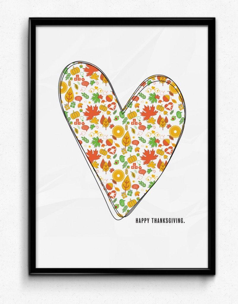 Free printable thanksgiving greeting card poster print frame and free printable thanksgiving greeting card poster print frame and gift just in time for thanksgiving m4hsunfo