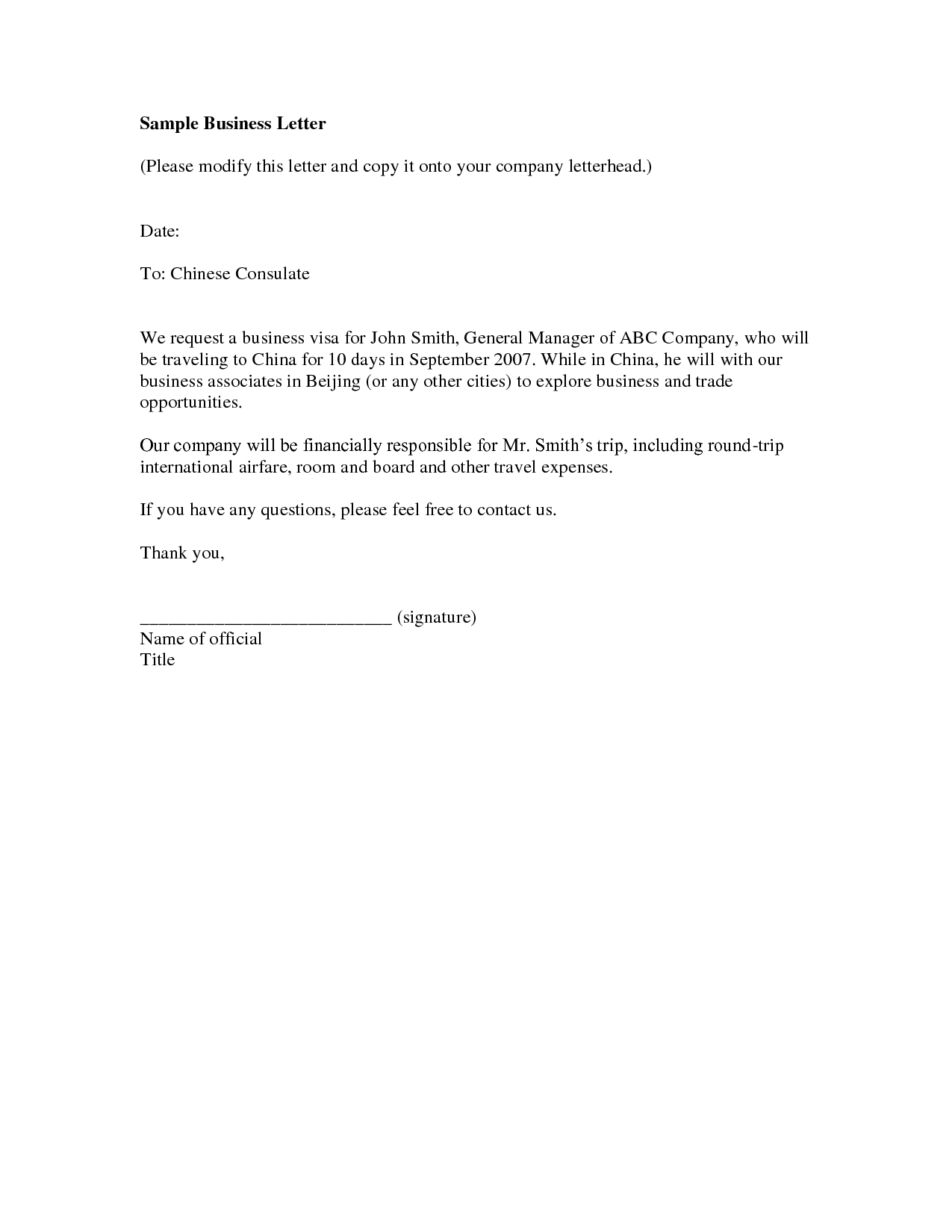 Good Business Proposal Example Simple Letter With Sample Letters