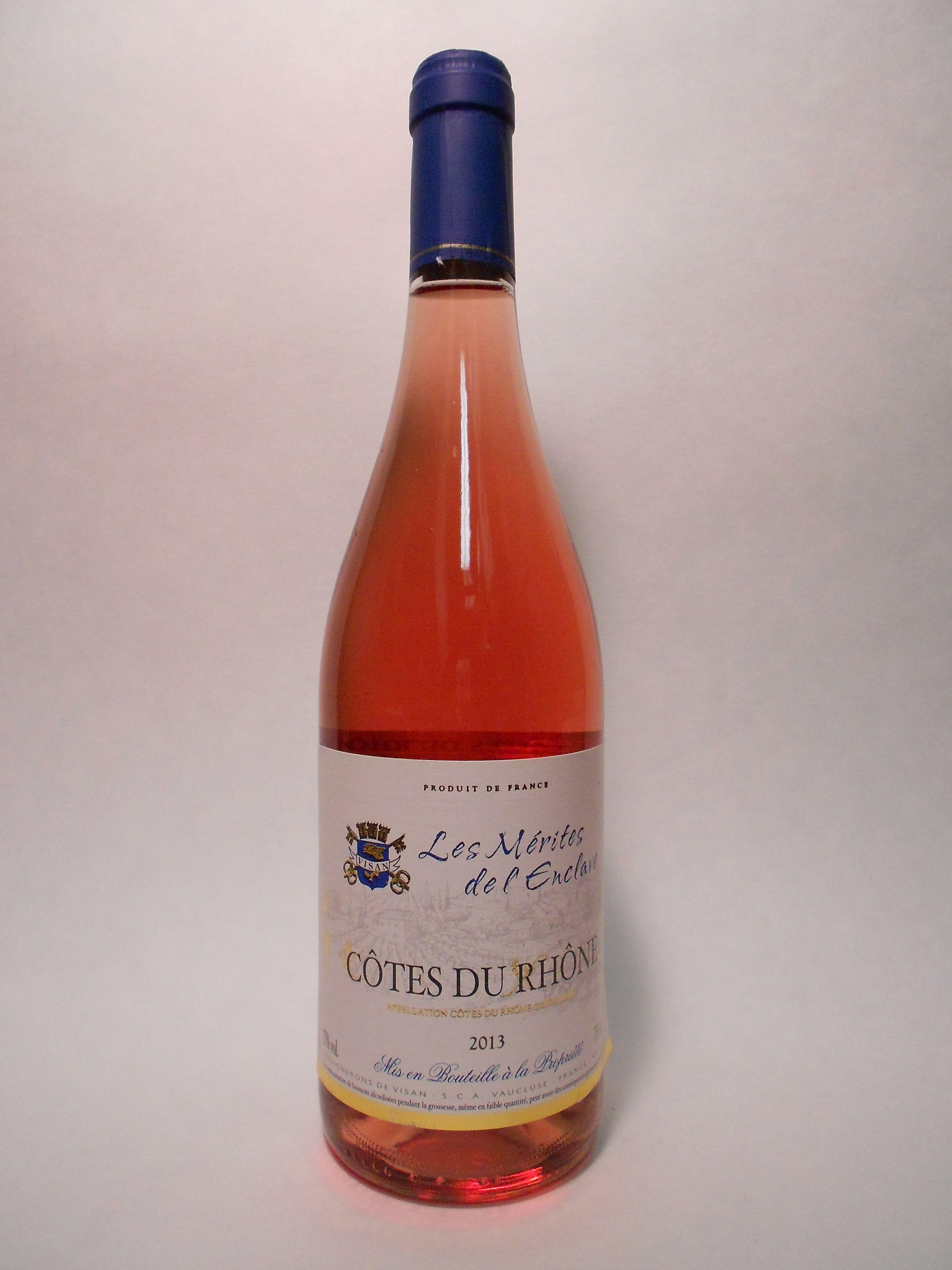 2013 Les Merites De L Enclave Cotes Du Rhone Rose Sku 62526 Www Bassins Com Phone 202 338 1433 Vino Rosado Vinos