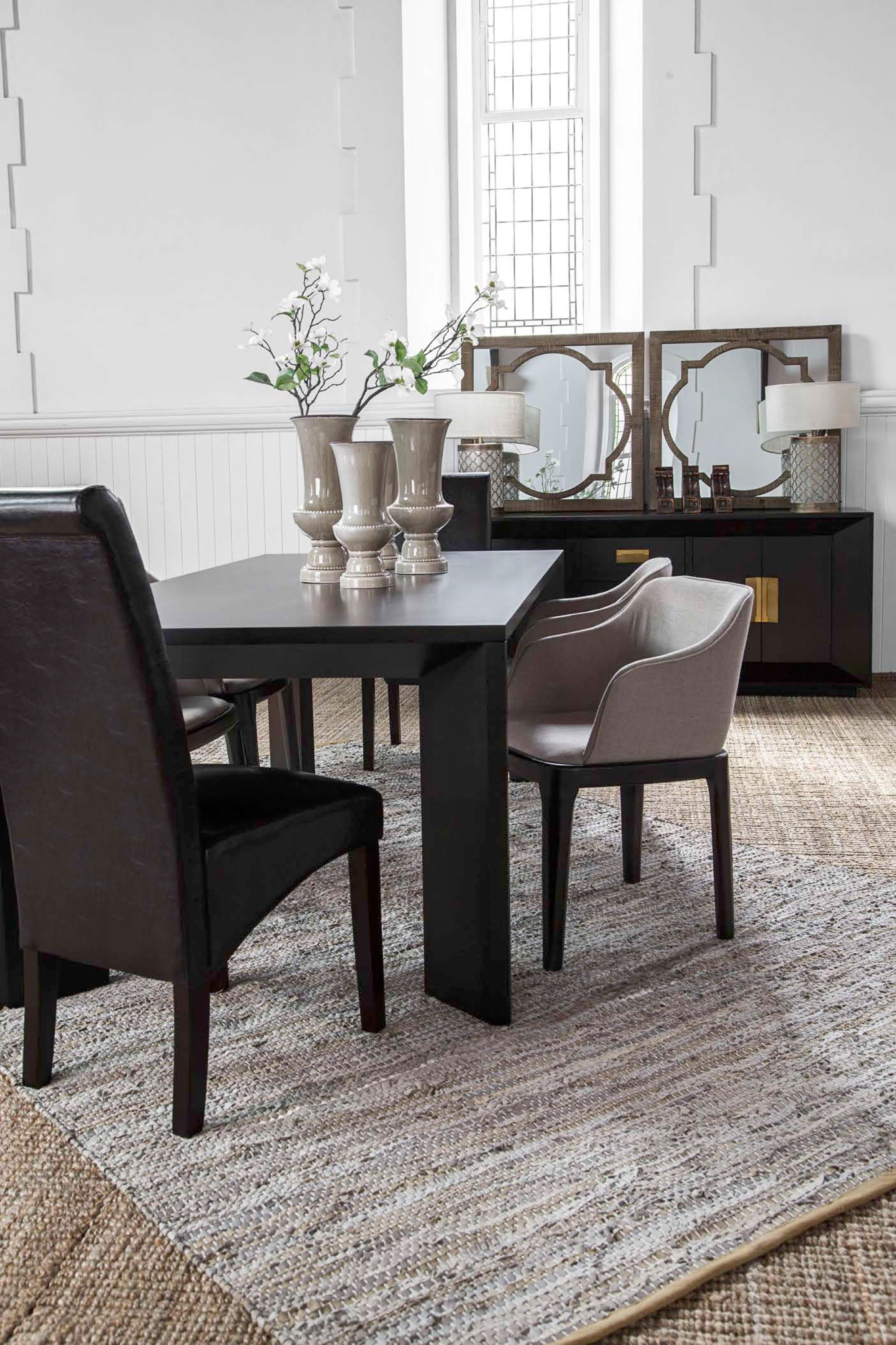 Trevor Dining Table Dark Wood Dining Furniture Coricraft