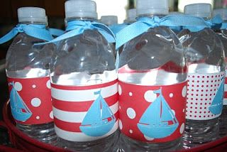 Wrap or Duct Tape a Water Bottle then slap a sailboat on there! (You can cricut the sailboat.)