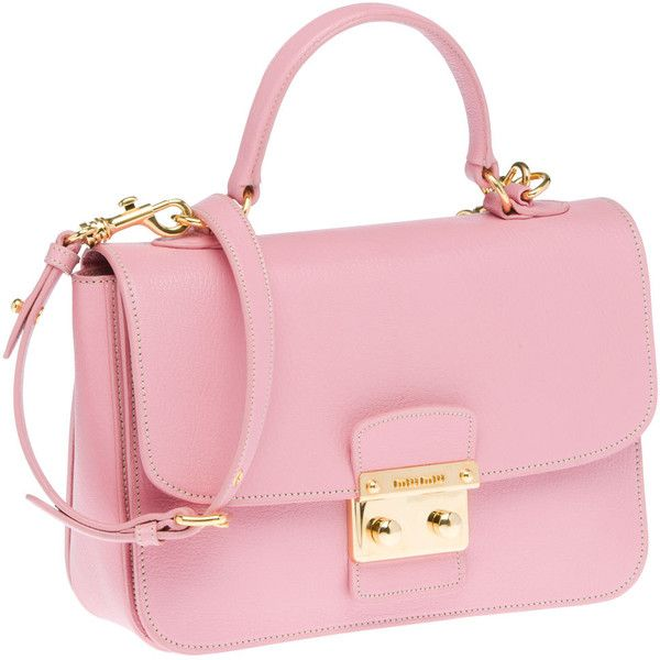 Miu Miu Shoulder Bag (99.720 RUB) ❤ liked on Polyvore featuring bags, handbags, shoulder bags, purses, bolsas, borse, women, pink shoulder handbags, accessories handbags and shoulder handbags