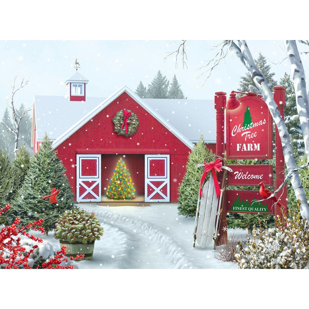 Christmas Tree Farm 500 Piece Jigsaw Puzzle | copy | Pinterest ...