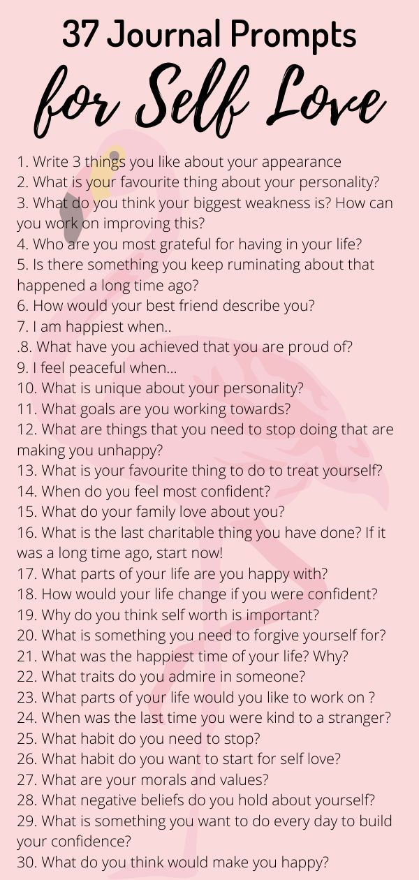37 Journal Prompts for self love. Journaling therapy can improve mental health reduce anxiety. Men and women can try these prompts to improve self esteem and confidence. Getting to know yourself can help reduce anxiety and feelings of low self worth. Self care journal prompts for beginners. #journalprompts #selflove #selfcare #selfworth #anxiety #selfesteem #selfdiscovery