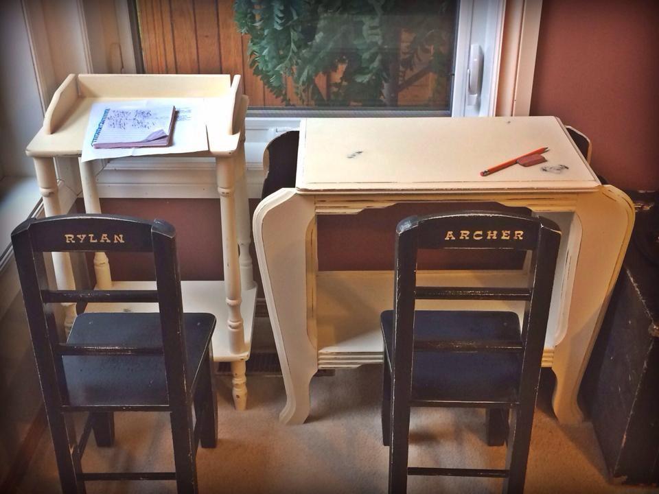 Cute children's homework nook.  Like Artistic Furniture's Facebook page https://www.facebook.com/pages/Artistic-Furniture/419729654771953