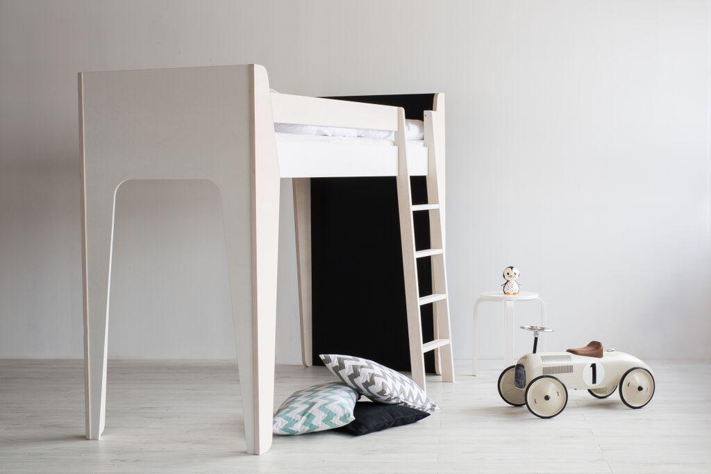 Ketara loft bed for children. Made of birch veneer.