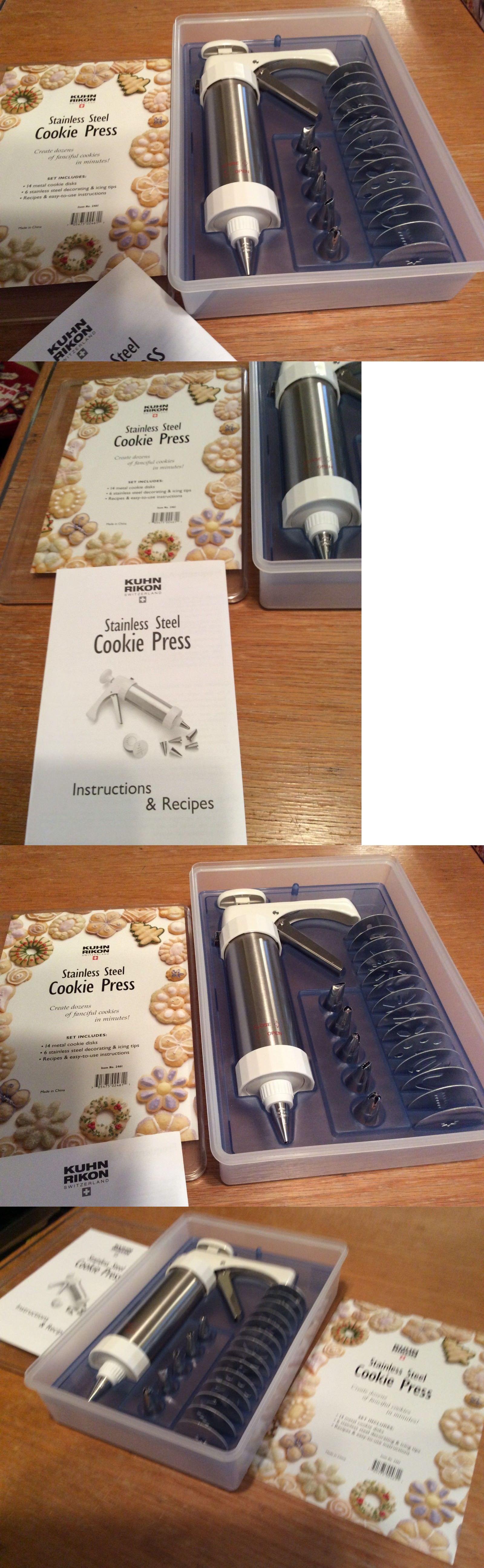 Cookie presses 178059 kuhn rikon stainless steel cookie
