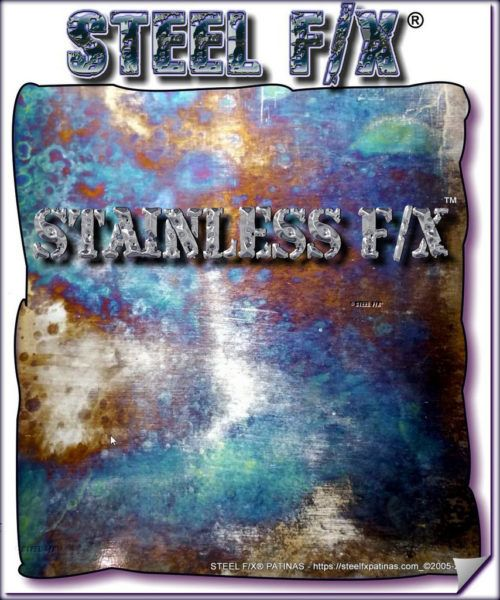 Stainless Steel Patina Stainless F X Color Case Hardening