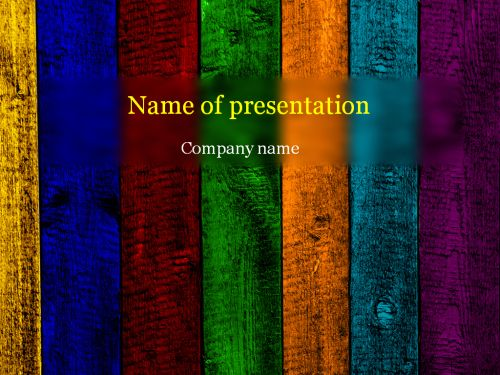 Wooden rainbow Powerpoint template Projects to Try Pinterest