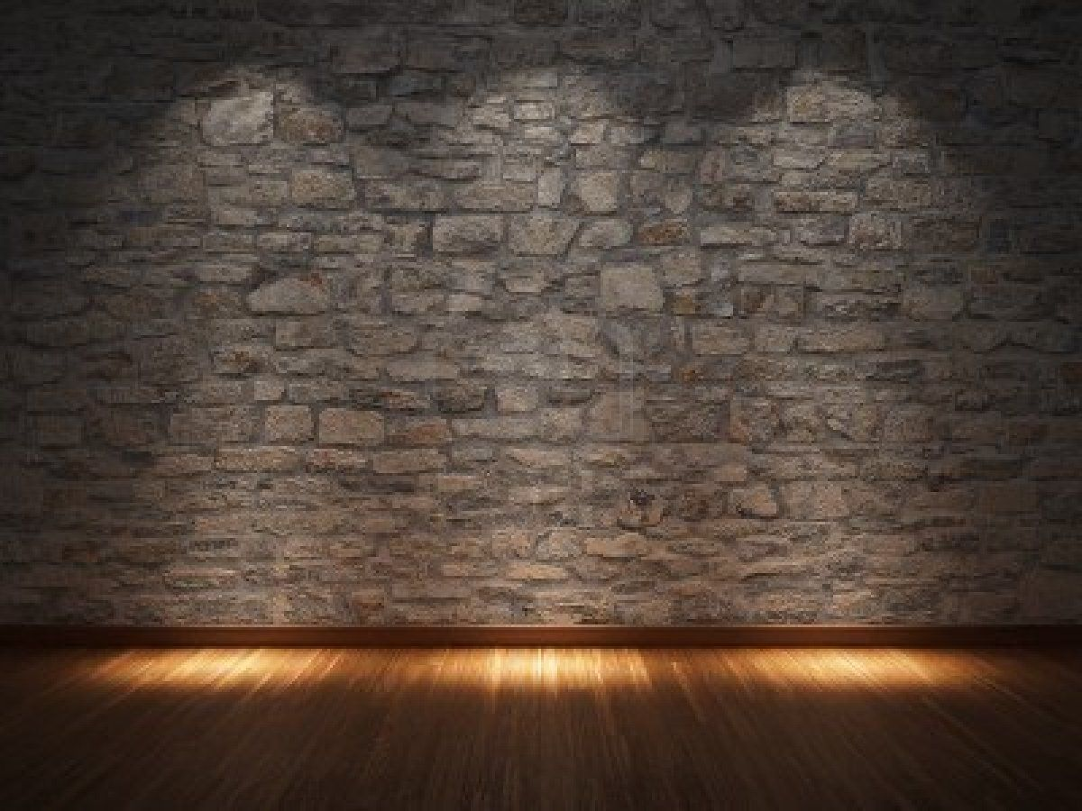 Interior: Wonderful Stone Wall Interior Ideas Nuanced In Cool Grey Created  To Match With Hardwood