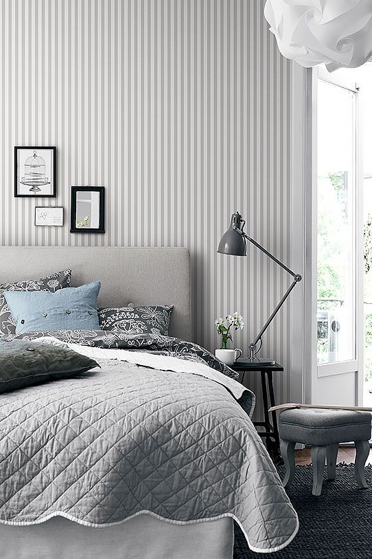 Marstrand 2956 Stripe Wallpaper Bedroom Wallpaper Bedroom Bedroom Diy