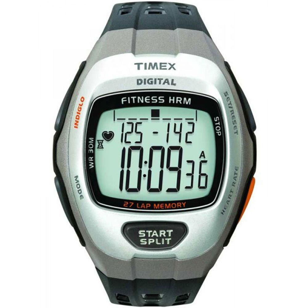 Timex T5H911 Men's Zone Trainer Heart Rate Grey Digital Dial Rubber Strap Watch
