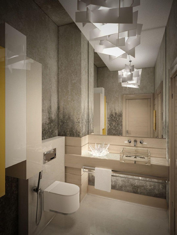 15 Stunning Modern Bathroom Ceiling Lights For Cozy Bathroom Ideas Decor It S Contemporary Bathroom Designs Bathroom Lighting Design Bathroom Light Fixtures
