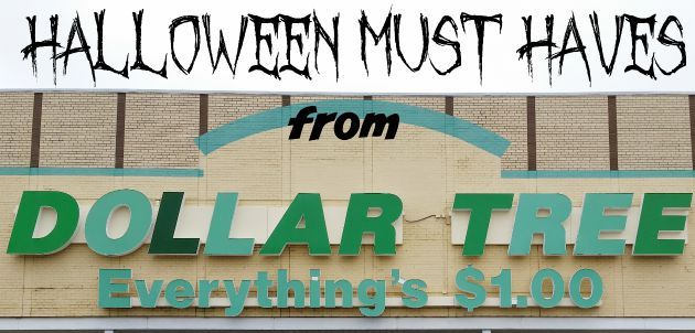 10 Dollar Tree Halloween Must Haves - get cheap costume accessories, treats and MORE! Do Halloween on the cheap!