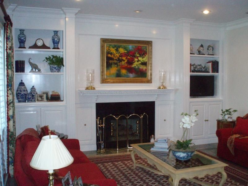 Photos Fireside Bookcase Surrounds Summit Condo New Cabinets With Laminate Countertopatching