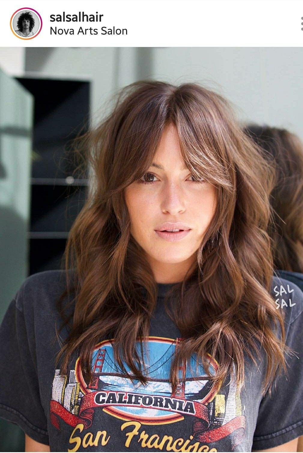 Bardot Inspired Curtain Bangs Hair Styles Long Hair Styles Hairstyle