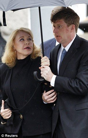 Senator Edward Kennedy's Funeral, 2009 - first wife Joan Bennett Kennedy and their son Patrick, Jr.
