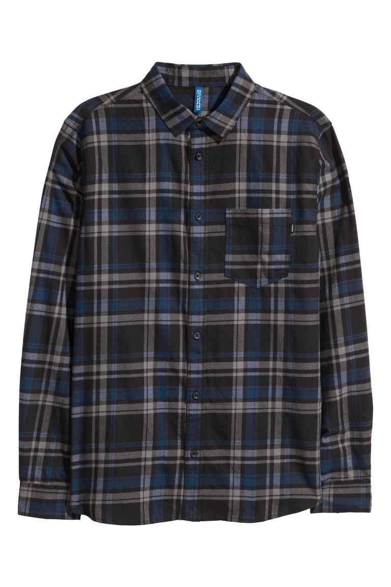 Grey flannel jacket  Checked flannel shirt  Flannels and Flannel shirts