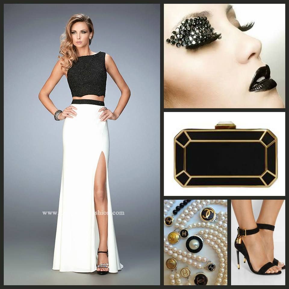 La Femme 22578 two piece jersey gown - prom dress - homecoming ...
