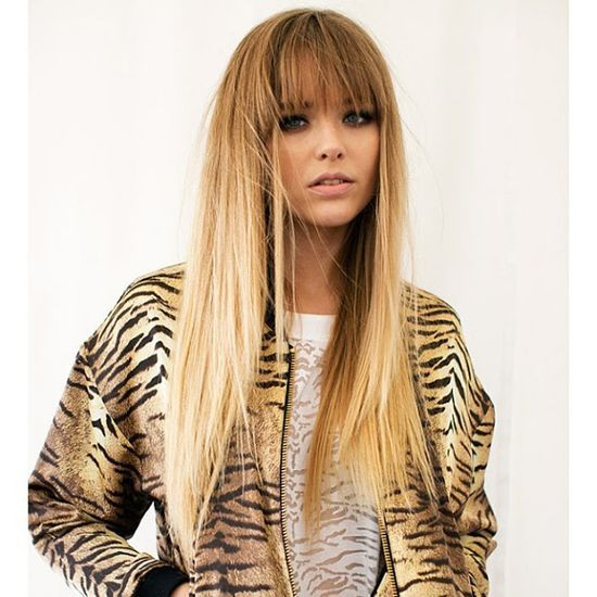 Long straight hair with blunt bangs. Pretty cut and style! It's hard to find bangs that work for fine | http://coolstraighthairstyles.13faqs.com
