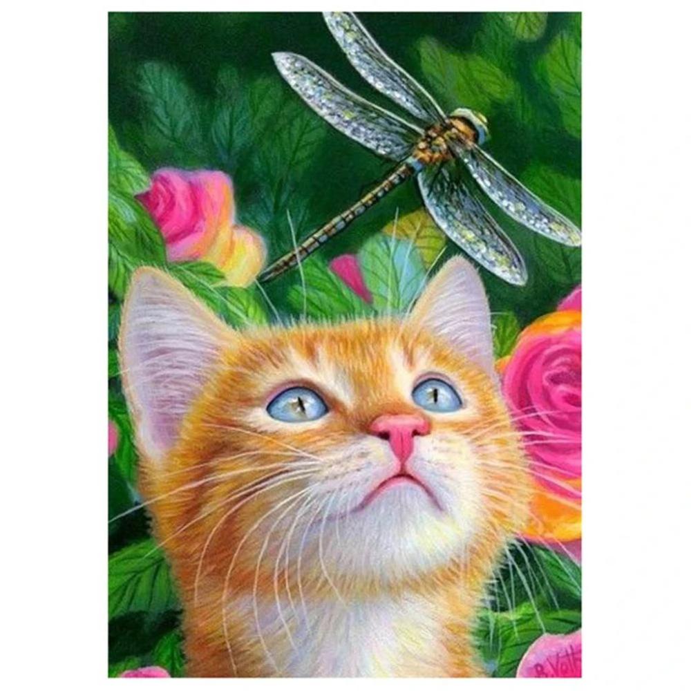 2 89 Gbp Cute Cat Diy 5d Diamond Embroidery Painting Cross Stitch Craft Kits Home Decor Ebay Home Garden Cat Art Cute Animals Cats And Kittens