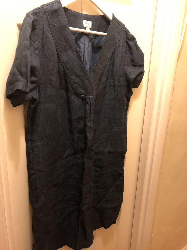 224862ab05b  DenimDress Beautiful Blue Denim Linen Monsoon Dress Size 16 - Denim Dress   1.26 (