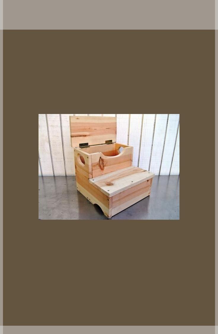 Holzbearbeitungsprojekt Wie Man Einen Aufbewahrungs Tritthocker
