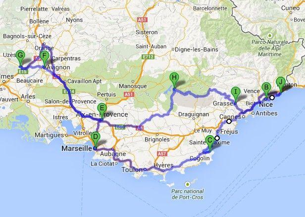 Roadtrip Provence Und Cote D Azur Autoreisen Provence Urlaub