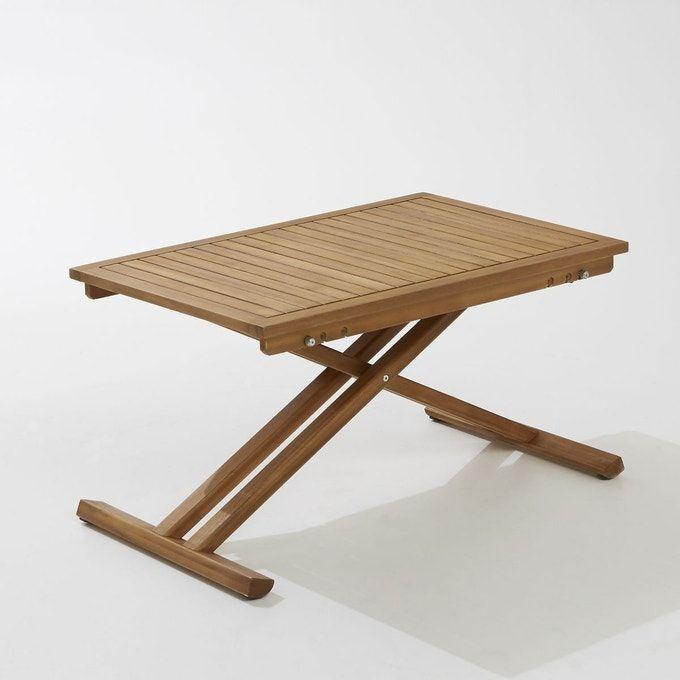 Table De Jardin Pliante En Acacia Et Finition Teck - Taille ...