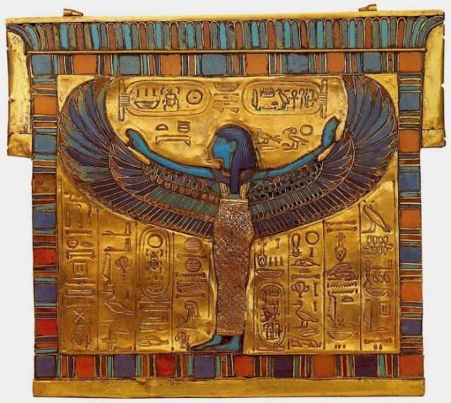 Pectoral With A Picture Of The Sky Goddess Nut Photostory Egypt