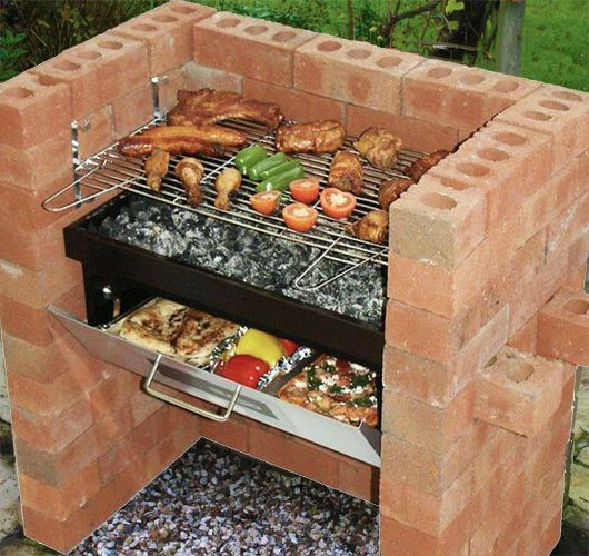 Brick Grills And Outdoor Countertops Building Your: Bbq Grill Brick Outdoor Barbecue Stainless Portable Smoker