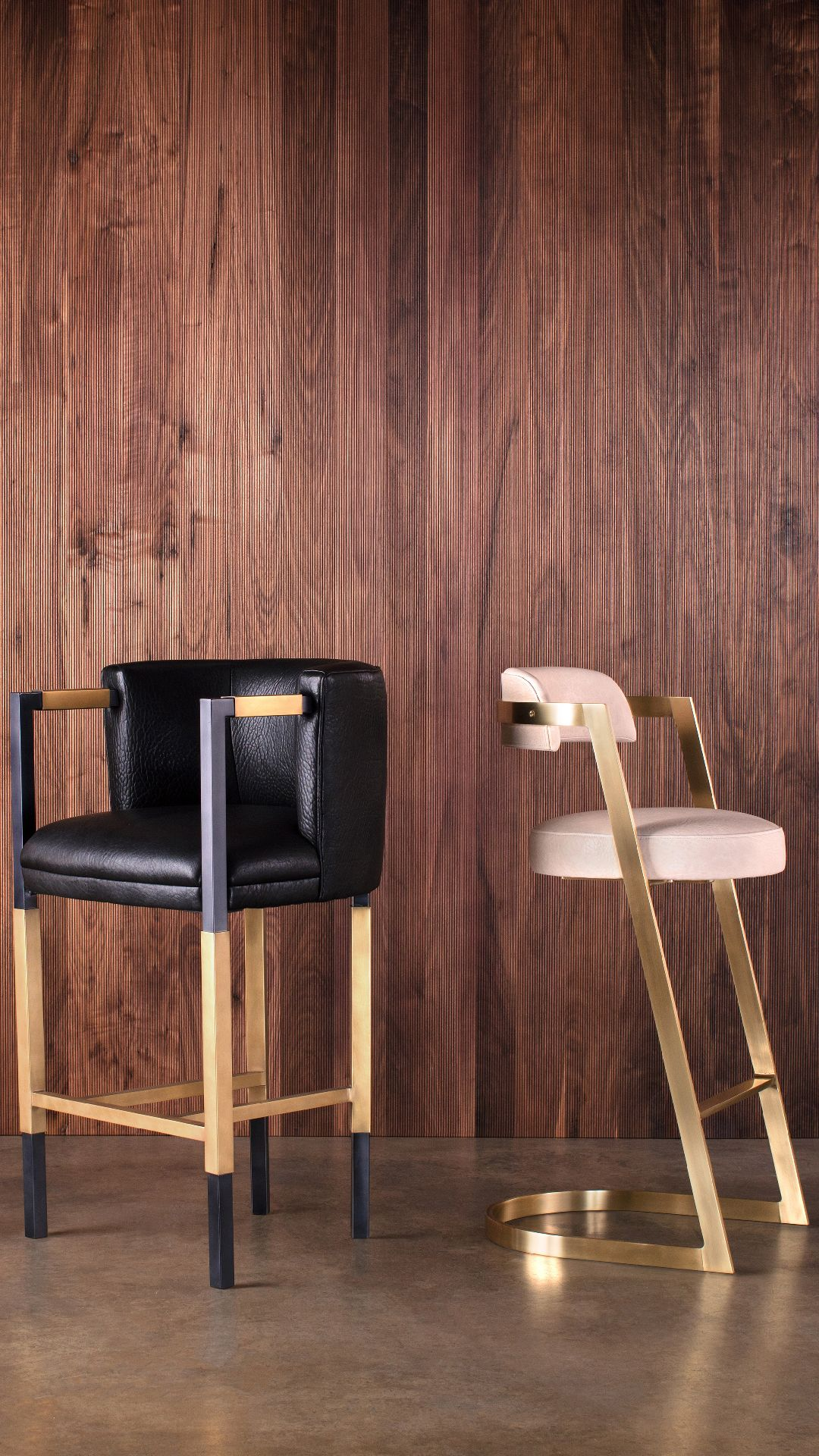 Kelly Wearstler - Larchmont Bar Stool A Boldly Elegant And