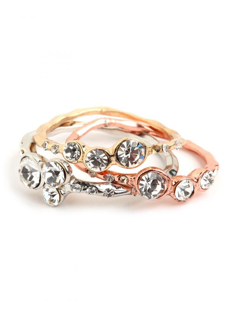 Gem Ring Trio. Beautiful! | Frost Yourself | Pinterest | Gems ...
