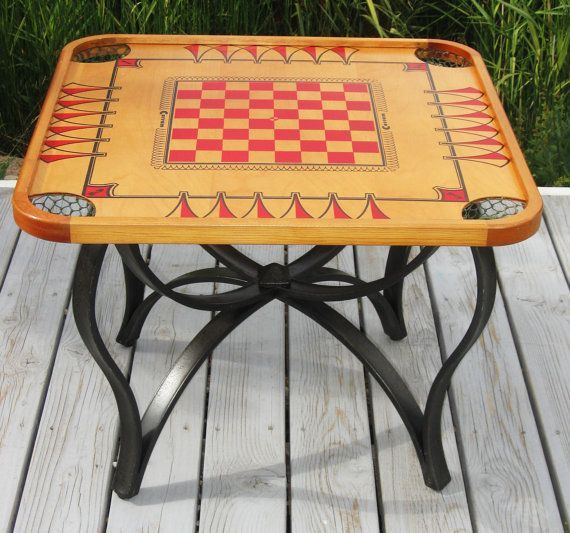 1970s Carrom Game Board Table? DIY | Vintage CARROM Game Flip Top Coffee  Table With Iron Base   Refurbished .