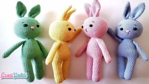 Amigurumi Yapılışı : Amigurumi kolay oyuncak tavşan yapılışı türkçe anlatımlı videolu
