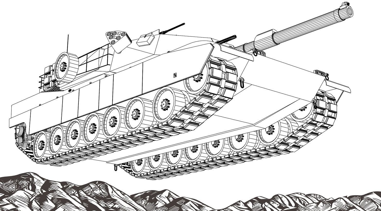 Best adult and teens tanks coloring book military