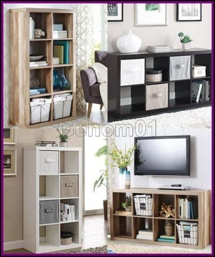 Organizer-8-Cube-Multiple-Versatile-Storage-Book-Shelves-Eight-Square-Bookcase