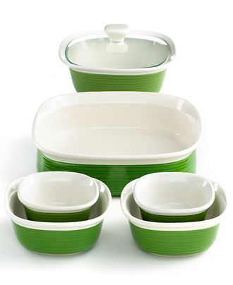 Corningware Bakeware Set 7 Piece Etch Grass Bakewareset