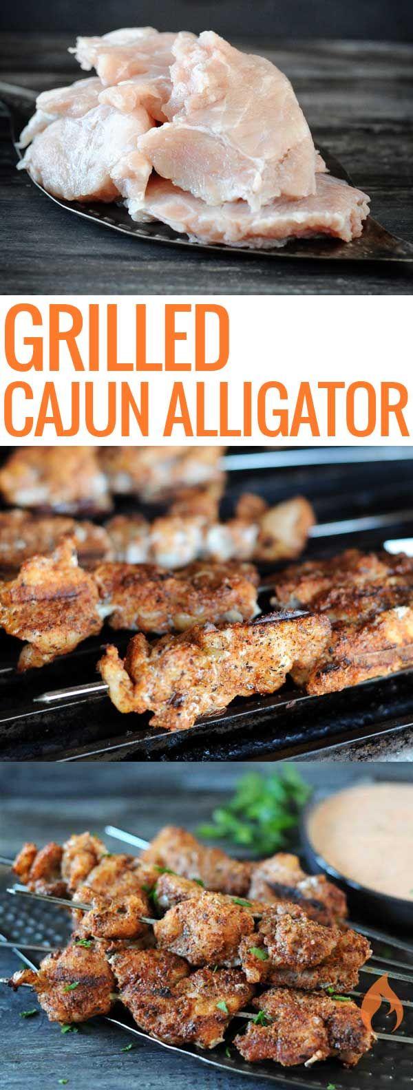 Cajun Grilled Alligator With Comeback Sauce