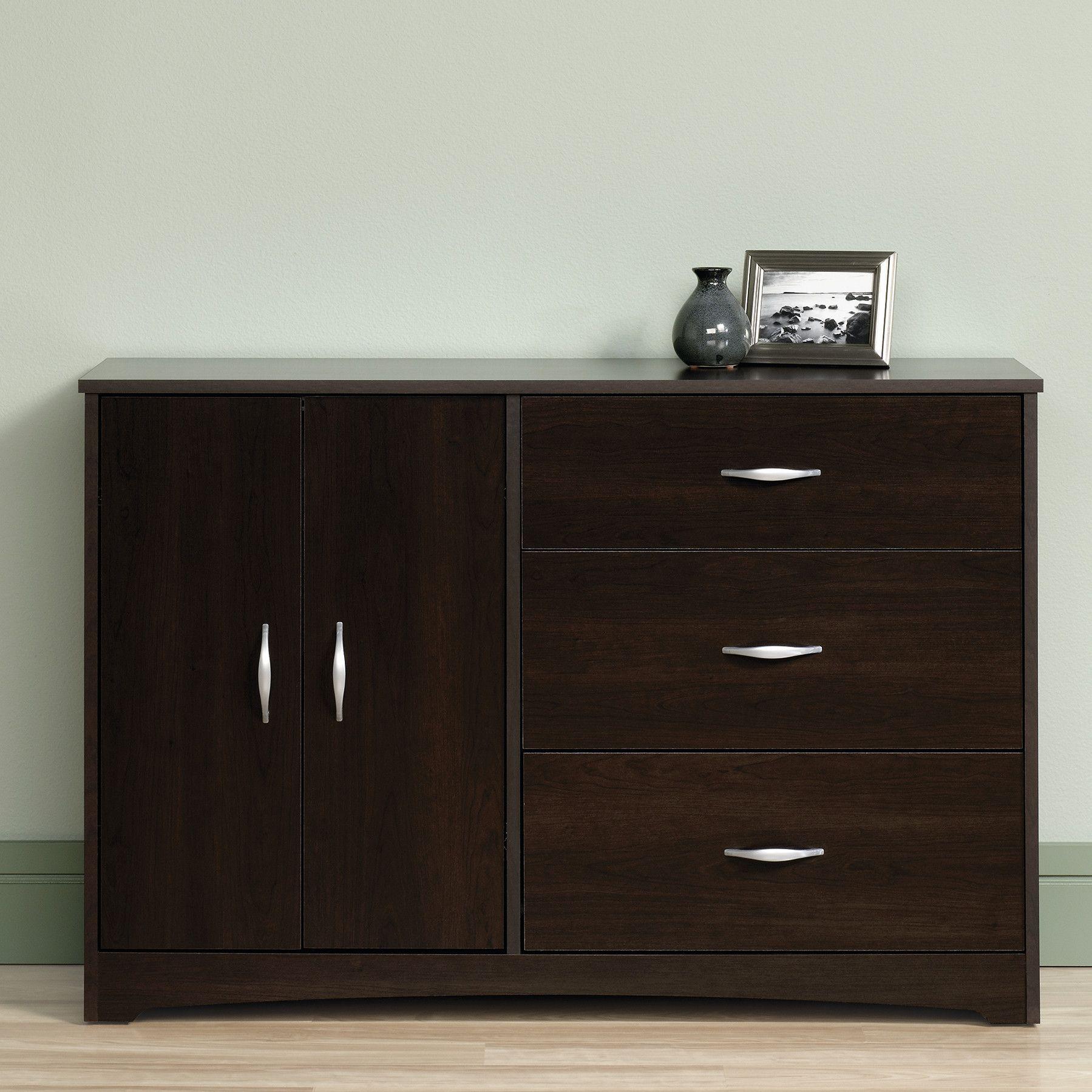 Beginnings 3 Drawer Combo Dresser in Cinnamon Cherry 3