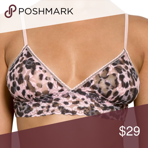 ccfa9f5046 NWT Hanky Panky Leopard Triangle Bralette Brand new with tags! Signature  stretch lace bralette