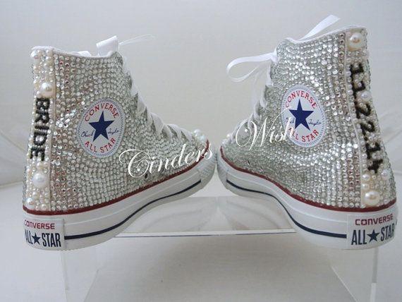 Premium Wedding Converse Pearl Converse All Over Sparkling Bridal