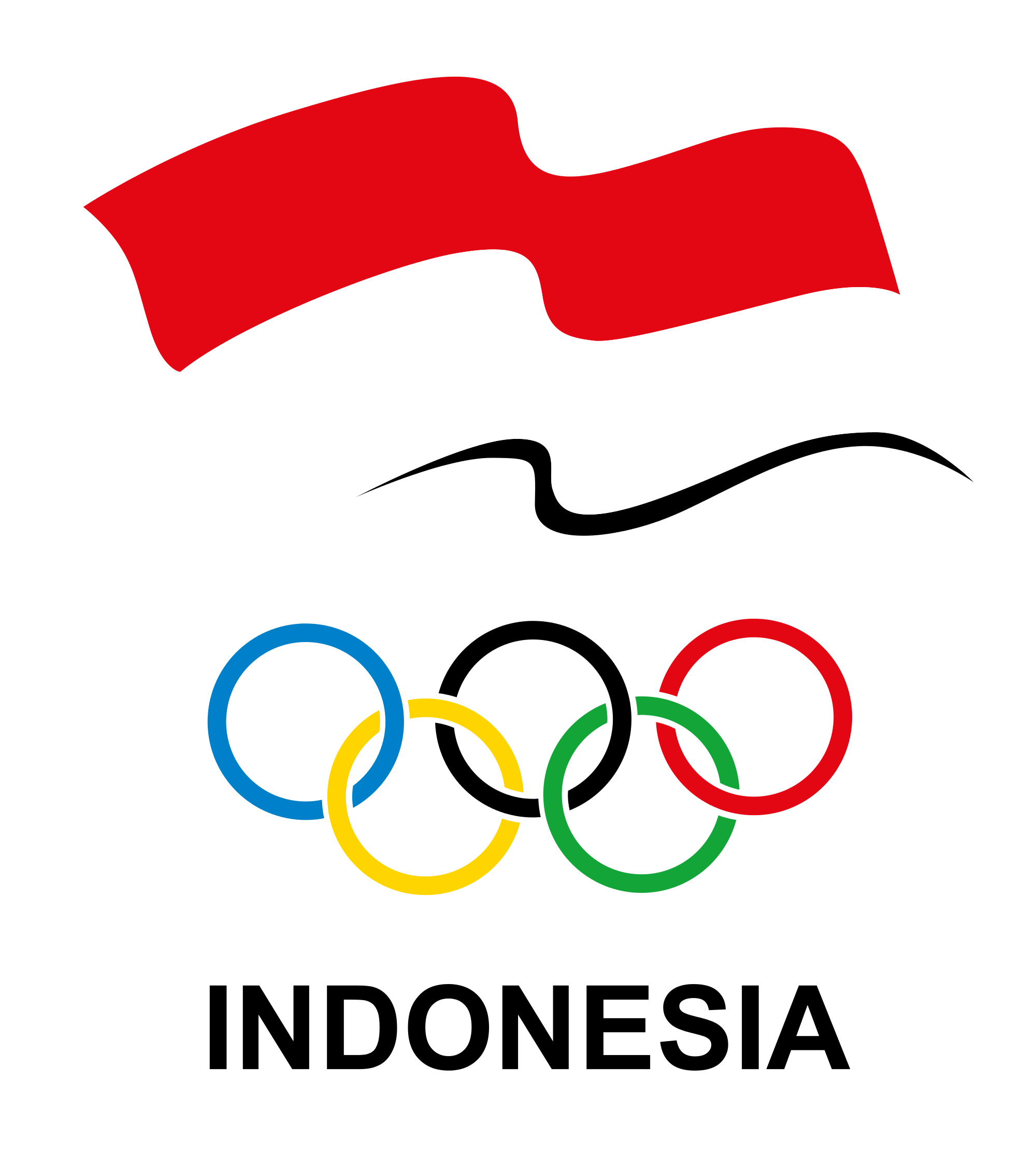 Olympic rings logo rio 2016 olympics logo designed by fred gelli - Indonesian Olympic Committee